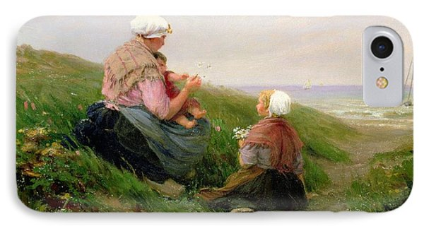 A Mother And Her Small Children IPhone Case by Edith Hume