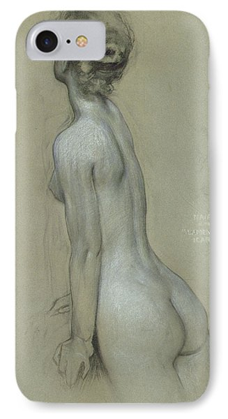A Naiad In The Lament For Icarus IPhone Case by Herbert James Draper