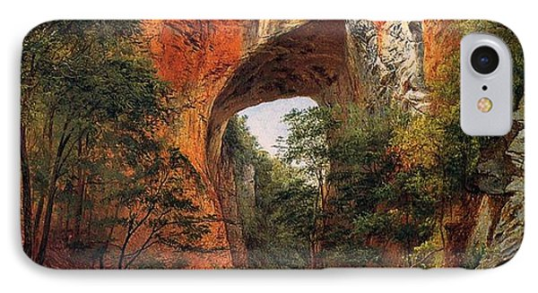A Natural Bridge In Virginia IPhone Case by David Johnson