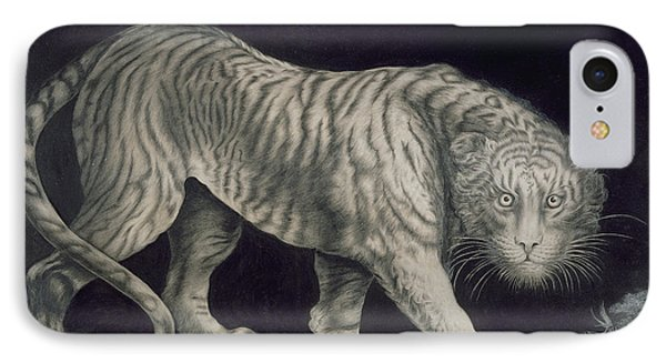 A Prowling Tiger IPhone Case by Elizabeth Pringle