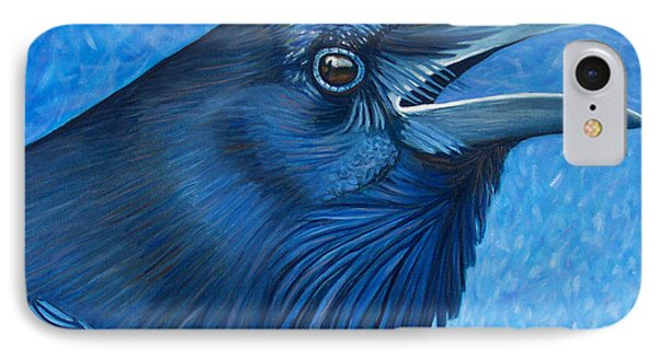 A Raven's Prayer IPhone Case by Brian  Commerford