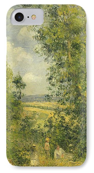 A Rest In The Meadow IPhone Case by Camille Pissarro
