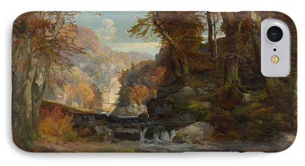 A Scene On The Tohickon Creek IPhone Case by Thomas Moran