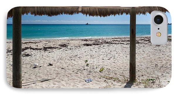 A Seat In A Tropical Beach Hut IPhone Case by Michelle Wiarda