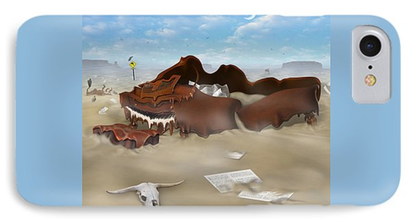 A Slow Death In Piano Valley Sq IPhone 7 Case by Mike McGlothlen