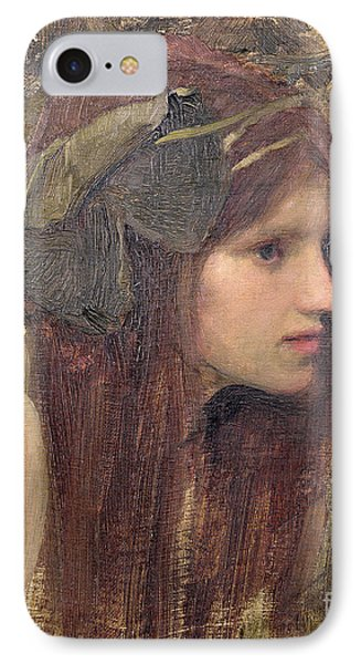 A Study For A Naiad IPhone Case by John William Waterhouse