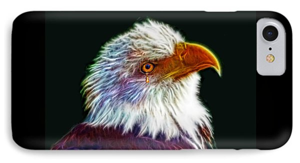A Tear For America IPhone Case by Michael Durst