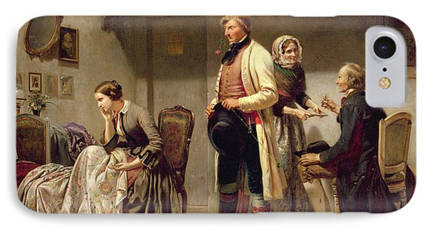 A Toast To The Engaged Couple IPhone Case by Carl Wilhelm Huebner