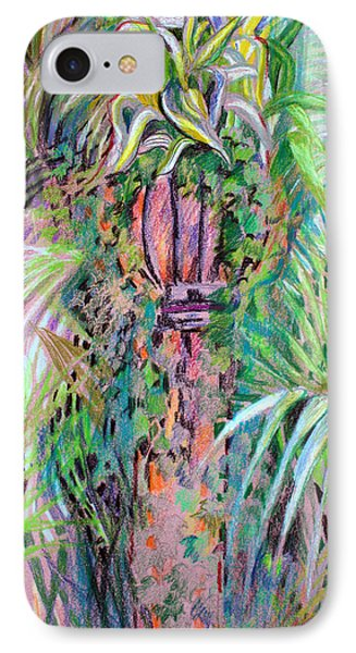 A Tropical Basket On A Post IPhone Case by Mindy Newman