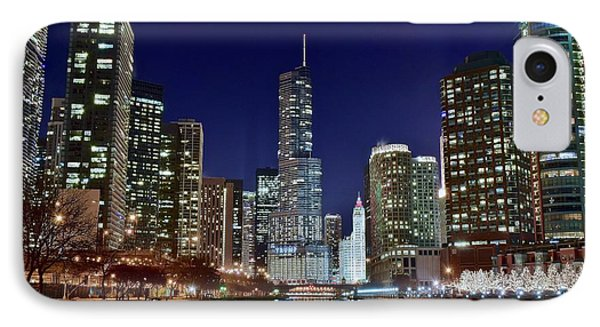 A View Down The Chicago River IPhone Case by Frozen in Time Fine Art Photography