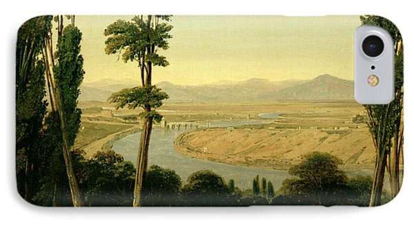 A View Of The Tiber And The Roman Campagna From Monte Mario Phone Case by William Linton