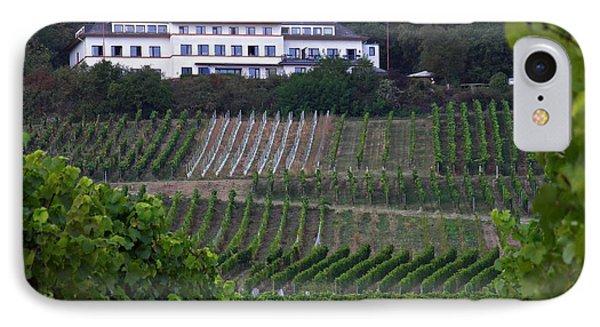 A Vineyard Above Rudesheim 2 IPhone Case by Sarah Loft