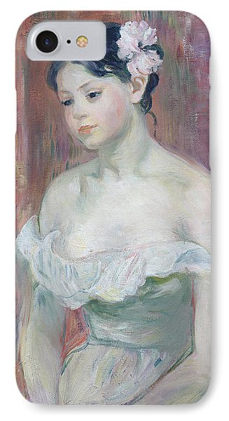 A Young Girl IPhone Case by Berthe Morisot
