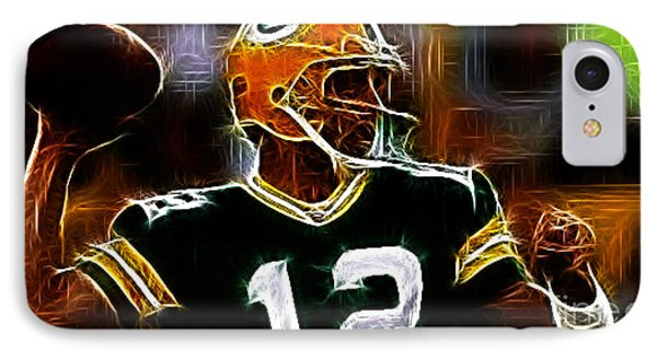 Aaron Rodgers - Green Bay Packers Phone Case by Paul Ward
