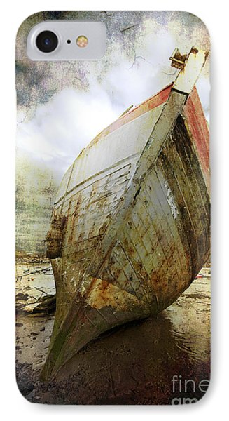 Abandoned Fishing Boat IPhone Case by Meirion Matthias