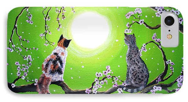 Abby And Caesar In The Spring IPhone Case by Laura Iverson