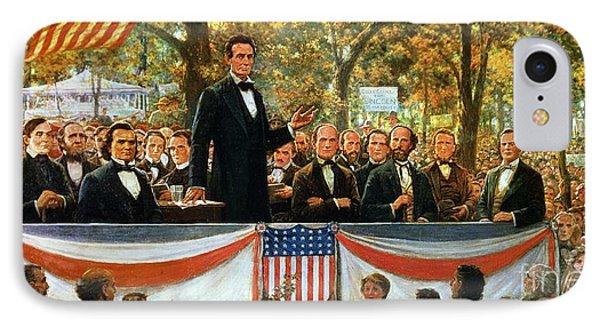 Abraham Lincoln And Stephen A Douglas Debating At Charleston Phone Case by Robert Marshall Root