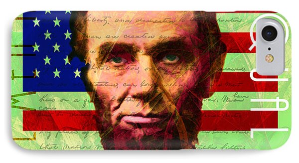 Abraham Lincoln Gettysburg Address All Men Are Created Equal 20140211p68 IPhone Case by Home Decor