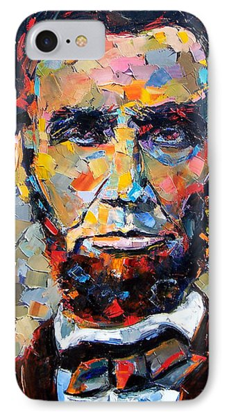 Abraham Lincoln Portrait IPhone 7 Case by Debra Hurd