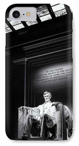 Abraham Lincoln Seated IPhone Case by Andrew Soundarajan