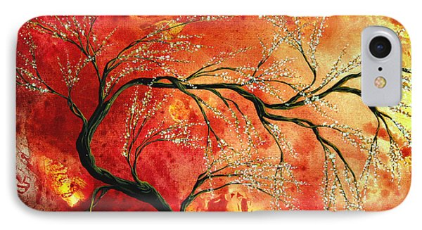 Abstract Art Floral Tree Landscape Painting Fresh Blossoms By Madart IPhone Case by Megan Duncanson