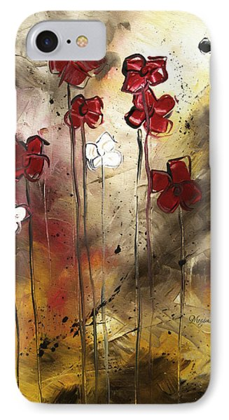 Abstract Art Original Flower Painting Floral Arrangement By Madart Phone Case by Megan Duncanson