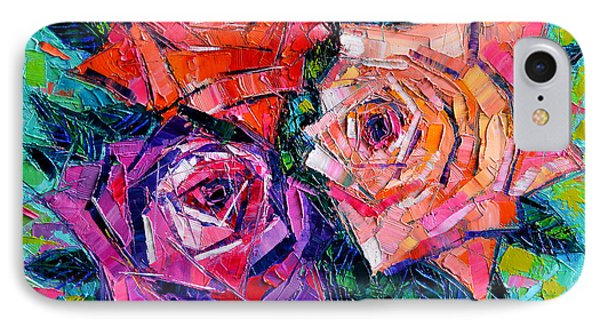 Abstract Bouquet Of Roses IPhone Case by Mona Edulesco