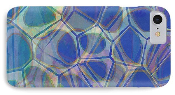 Cells 7 - Abstract Painting IPhone Case by Edward Fielding
