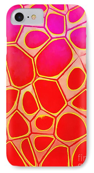 Abstract Cells 1 IPhone Case by Edward Fielding