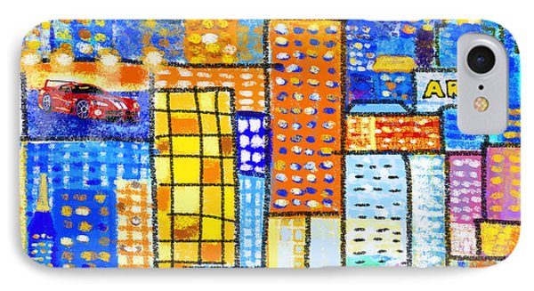 Abstract City IPhone Case by Setsiri Silapasuwanchai