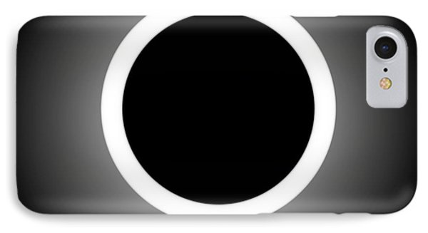 Abstract Composition - Perfect Eclipse  IPhone Case by Celestial Images