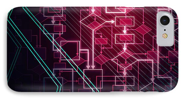 Abstract Flowchart Background IPhone Case by Oleksiy Maksymenko