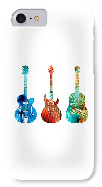 Abstract Guitars By Sharon Cummings IPhone Case by Sharon Cummings