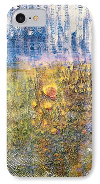 Abstract Landscape Art - Only Words - Sharon Cummings IPhone Case by Sharon Cummings