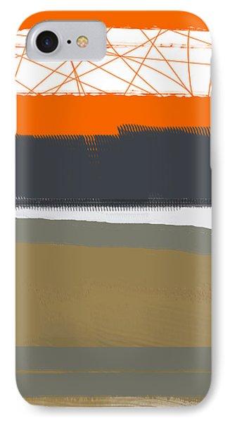 Abstract Orange 1 IPhone Case by Naxart Studio