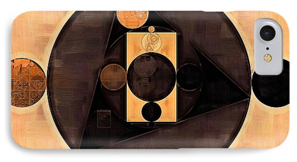 Abstract Painting - Morocco Brown IPhone Case by Vitaliy Gladkiy