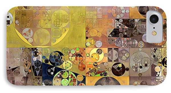 Abstract Painting - Pale Brown IPhone Case by Vitaliy Gladkiy
