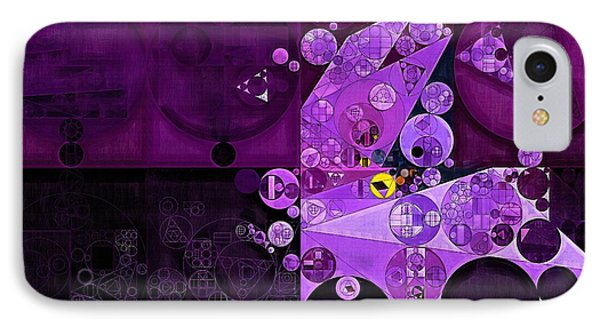 Abstract Painting - Rich Lilac IPhone Case by Vitaliy Gladkiy