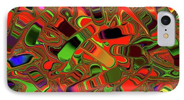 Abstract Rainbow Slider Explosion IPhone Case by Andee Design