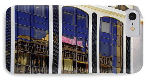 Abstract Reflections In Glass Tucson Arizona Phone Case by Christine Till