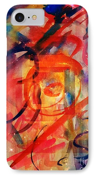 Abstract Watercolor 16-01 IPhone Case by Maria Urso