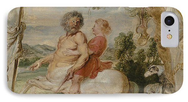 Achilles Educated By The Centaur Chiron IPhone 7 Case by Peter Paul Rubens