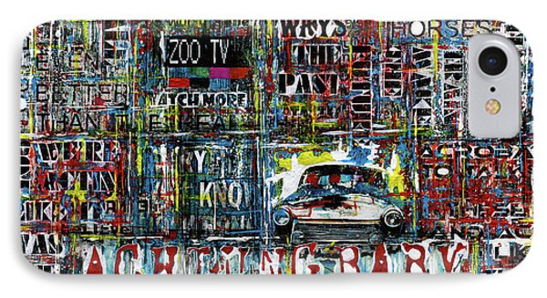 Achtung Baby IPhone Case by Frank Van Meurs