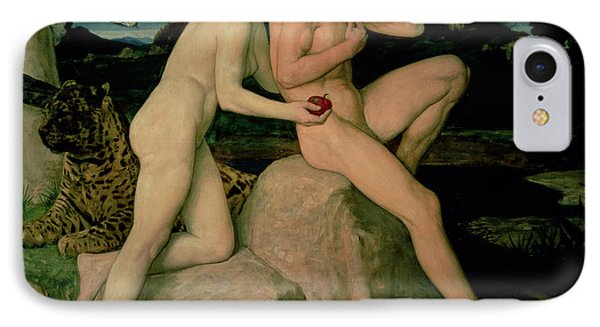 Adam And Eve  IPhone 7 Case by William Strang