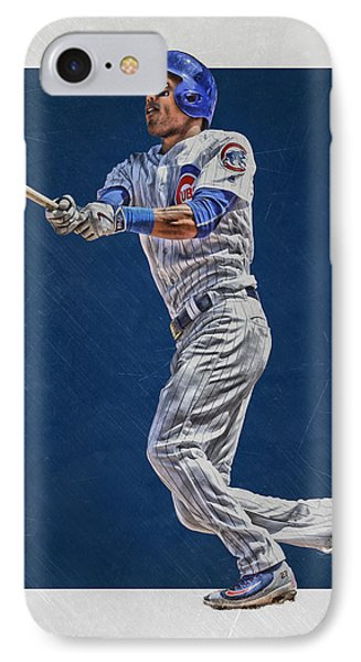 Addison Russell Chicago Cubs Art IPhone 7 Case by Joe Hamilton