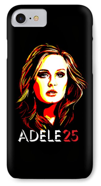 Adele 25-1 IPhone 7 Case by Tim Gilliland