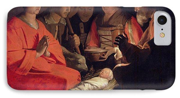 Adoration Of The Shepherds Phone Case by Georges de la Tour