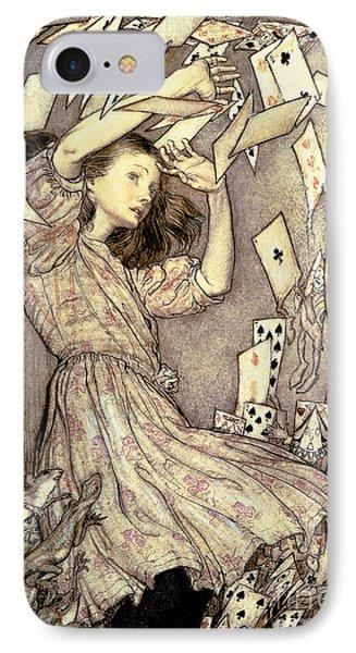 Adventures In Wonderland IPhone Case by Arthur Rackham