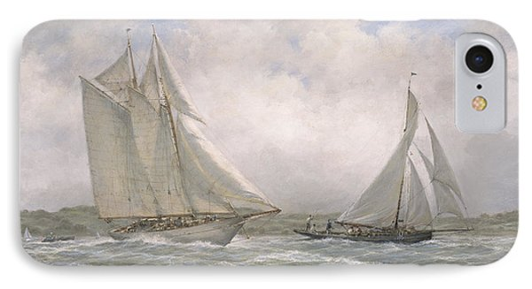 Aello Beta And Marigold Off The Isle Of Wight IPhone Case by Richard Willis