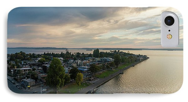 Aerial Alki Point Sunset IPhone Case by Mike Reid